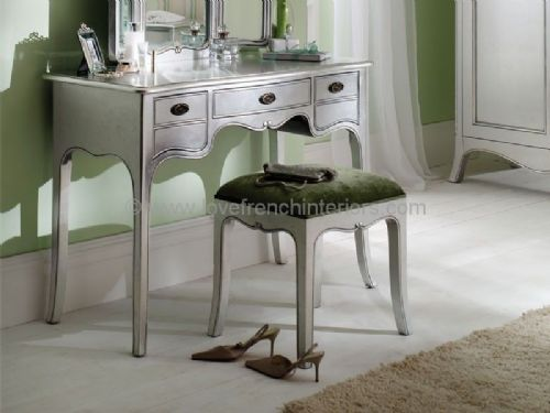 Paris Silver Dresser and Triple Mirror